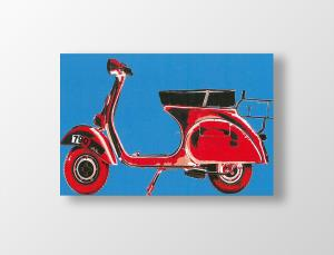 Mavi Pop Art Motor