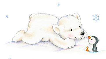 Sevimli Kutup Ayısı Ve Penguen çocuk Odası Tabloları Tablosu