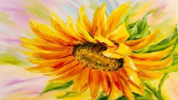 Ayçiçeği Sulu Boya Reprödiksiyon çiçek Tabloları Ayçiçeği Tablosu