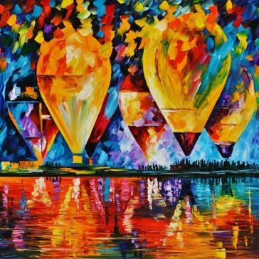 Ucan Balonlar Unlu Ressamlarin Tablolari Leonid Afremov Tablolari